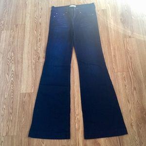 Free People Women's Jeans Size 29 Flare Denim A36